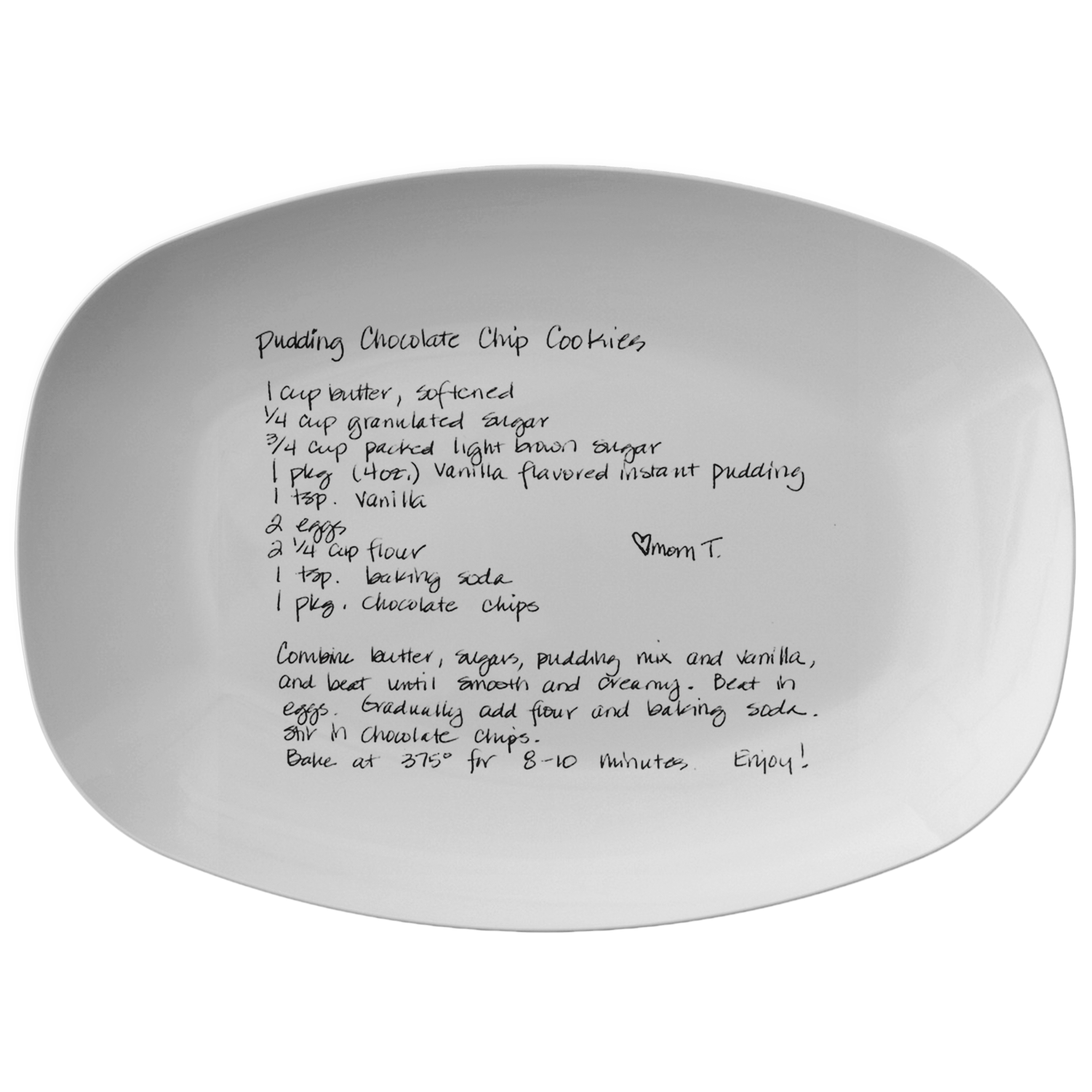 Family Recipe Platter - For Rhonda T - 24th Ave Designs
