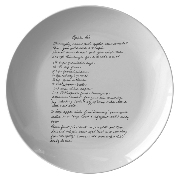 Family Recipe Plate - For Sydney Bennett - 24th Ave Designs