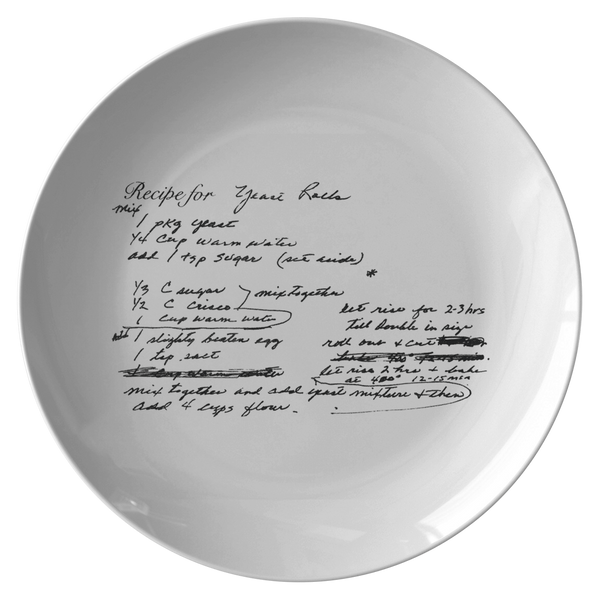 Family Recipe Plate for Szwejbka - 24th Ave Designs