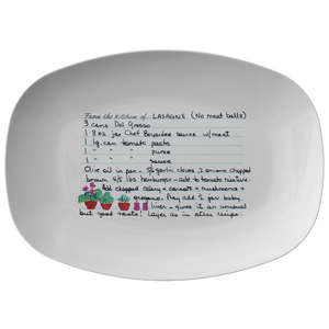 Family Recipe Platter  For Cicely Nicholas - 24th Ave Designs