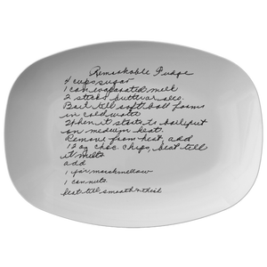 Family Recipe platter - For Hebert - 24th Ave Designs