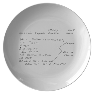 Family Recipe Plate - For Halstead - 24th Ave Designs