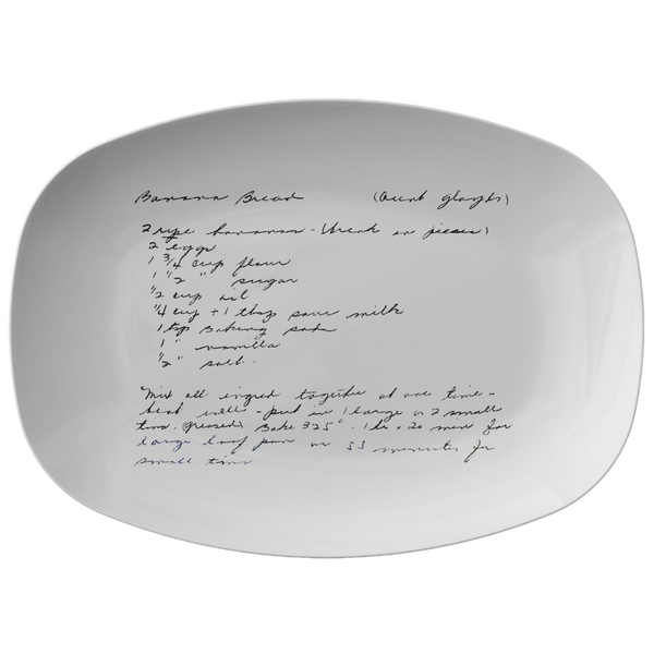Recipe platter for Debruler - 24th Ave Designs