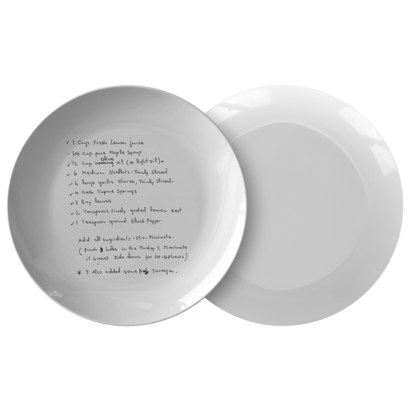 Family recipe plate - For Outumuro - 24th Ave Designs