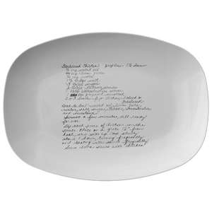 Family Recipe Platter - For Carole E - 24th Ave Designs