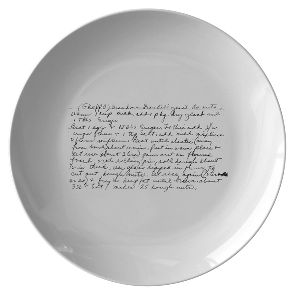 Family Recipe Plate - For Margaret Cavanaugh - 24th Ave Designs