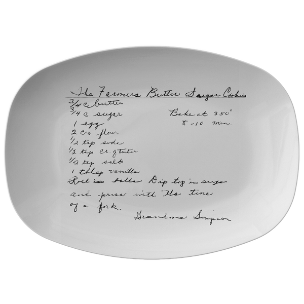 Family Recipe Platter for Semingson - 24th Ave Designs