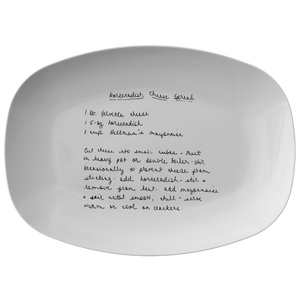 Family Recipe Platter - For Caroline Christiansen - 24th Ave Designs