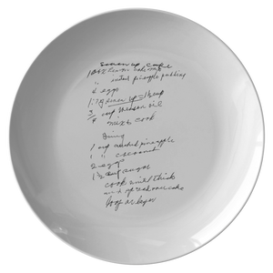 Family Recipe Plate - For Peggy M - 24th Ave Designs