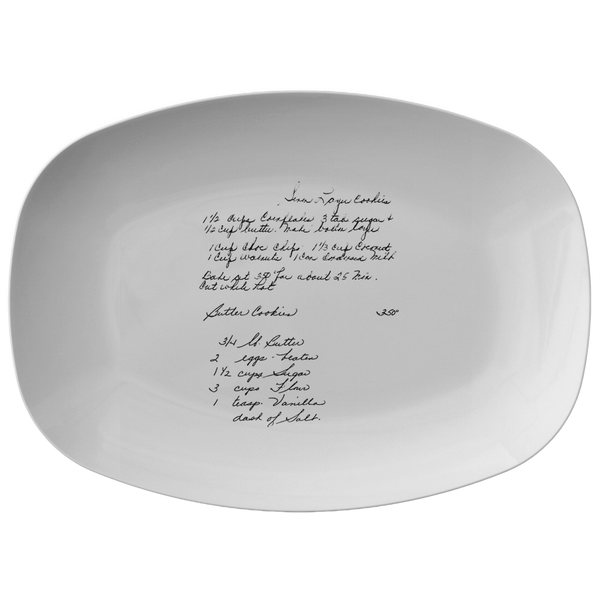 Family Recipe Platter - for Morgan Kramek - 24th Ave Designs