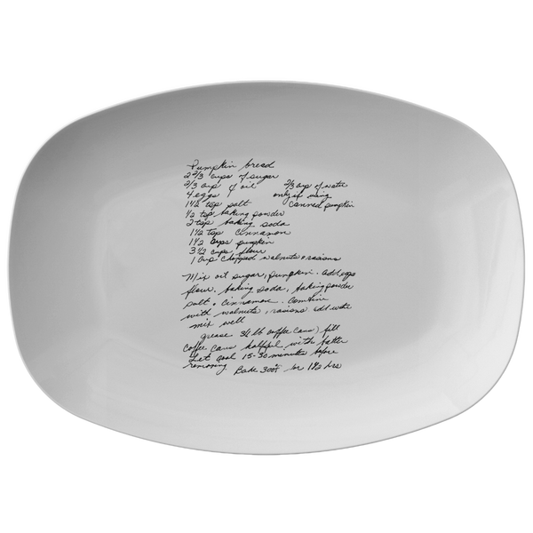 Family Recipe Platter - Fro Julie Bredes - 24th Ave Designs