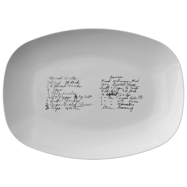 Family Recipe Platter - For Kristin Allen - 24th Ave Designs