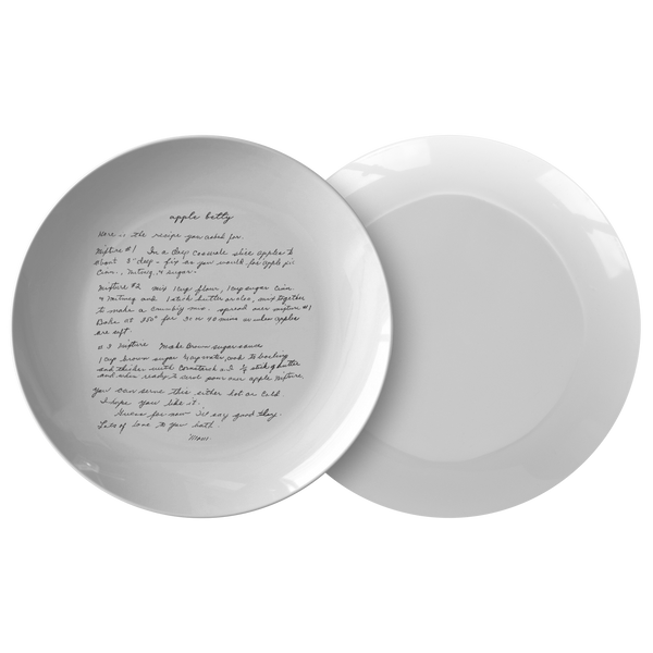 Family Recipe Plate - Fo Gail K - 24th Ave Designs