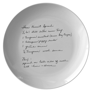 Family Recipe Plate - For Katlyn E. - 24th Ave Designs