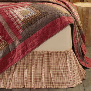 VHC Brands Rustic & Lodge | Bedding & Pillows | Tacoma Queen Bed Skirt 60x80x16