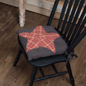 VHC Brands | Classic Country Kitchen & Tabletop Decor | Arlington Chair Pad Patchwork Star