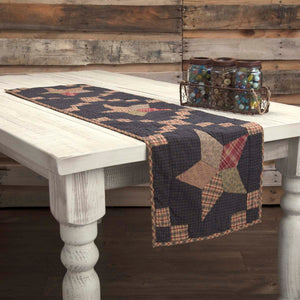 VHC Brands | Classic Country Kitchen & Tabletop Decor | Arlington Runner Quilted Patchwork Star 13x48