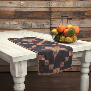 VHC Brands | Classic Country Kitchen & Tabletop Decor | Arlington Runner Quilted Patchwork Star 13x36