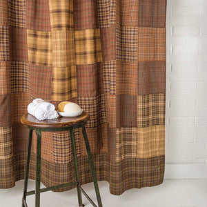 VHC Brands | Rustic & Lodge Bath | Prescott Shower Curtain Unlined 72x72