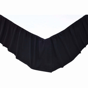 VHC Brands Primitive | Bedding & Pillows | Solid Black King Bed Skirt 78x80x16