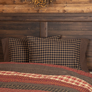 VHC Brands Rustic & Lodge | Bedding & Pillows | Beckham Standard Pillow Case Set of 2 - 21x30