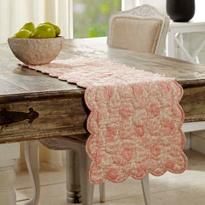 VHC Brands | Farmhouse Kitchen & Tabletop Decor | Genevieve Quilted Runner 13x48