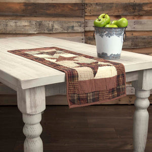 VHC Brands | Classic Country Kitchen & Tabletop Decor | Abilene Star Quilted Runner 13x36