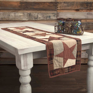 VHC Brands | Classic Country Kitchen & Tabletop Decor | Abilene Star Quilted Runner 13x48