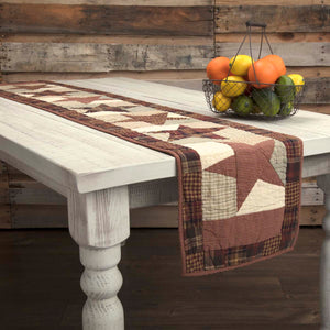 VHC Brands | Classic Country Kitchen & Tabletop Decor | Abilene Star Quilted Runner 13x72