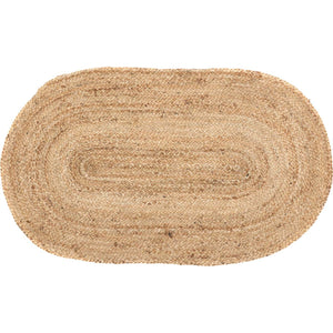 VHC Brands Natural Jute Rug Oval 20x30
