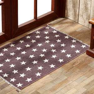 VHC Brands Antique Red Star Rug Rect 20x30