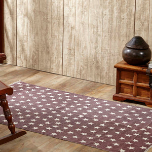 VHC Brands Antique Red Star Rug Rect 36x60