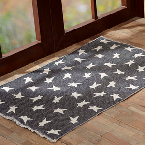 VHC Brands Black Primitive Star Rug Rect 36x60