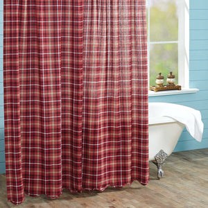 VHC Brands | Rustic & Lodge Bath | Braxton Scalloped Shower Curtain 72x72