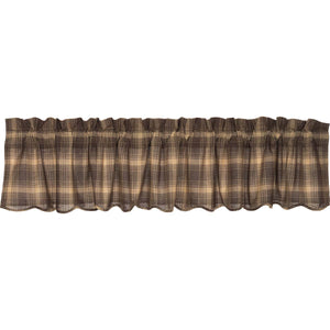 VHC Brands Rustic & Lodge |  Window Treatments | Dawson Star Scalloped Valance 16x90