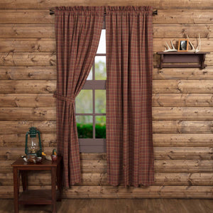 VHC Brands Rustic & Lodge |  Window Treatments | Parker Scalloped Panel Set of 2 84x40