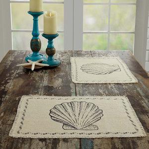 VHC Brands | Coastal Kitchen & Tabletop Decor | Sandy Creme Burlap Placemat Set of 6 12x18