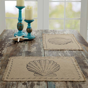 VHC Brands | Coastal Kitchen & Tabletop Decor | Sandy Tan Burlap Placemat Set of 6 12x18