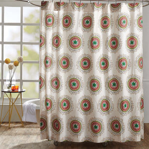 VHC Brands | Boho & Eclectic Bath | Bermuda Shower Curtain 72x72