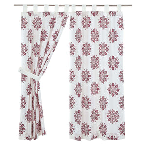 VHC Brands Boho & Eclectic |  Window Treatments | Mariposa Fuchsia Short Panel Set of 2 63x36