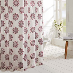 VHC Brands | Boho & Eclectic Bath | Mariposa Fuchsia Shower Curtain 72x72