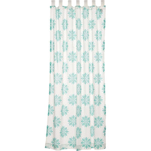 VHC Brands Boho & Eclectic |  Window Treatments | Mariposa Turquoise Panel 84x50