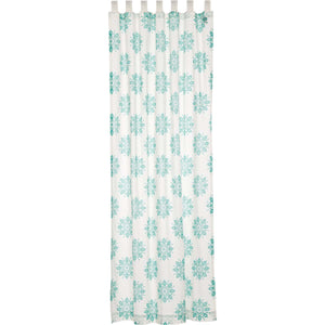 VHC Brands Boho & Eclectic |  Window Treatments | Mariposa Turquoise Panel 96x50