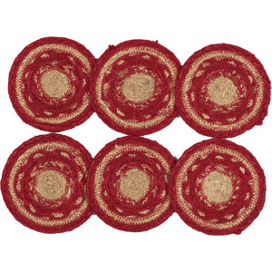 VHC Brands | Classic Country Kitchen & Tabletop Decor | Cunningham Jute Coaster Set of 6