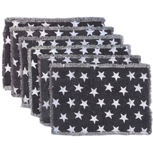 VHC Brands | Americana Kitchen & Tabletop Decor | Multi Star Navy Placemat Set of 6 12x18