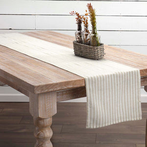 VHC Brands | Farmhouse Kitchen & Tabletop Decor | Classic Stripe Taupe Runner 13x90