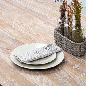 VHC Brands | Farmhouse Kitchen & Tabletop Decor | Keeley Taupe Napkin Set of 6 18x18