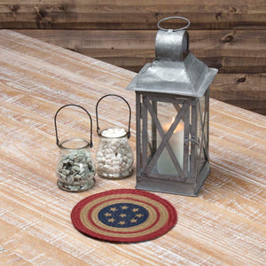 VHC Brands | Americana Kitchen & Tabletop Decor | Liberty Stars Flag Jute Trivet 8