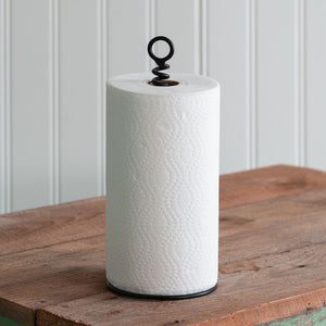 Corkscrew Paper Towel Holder
