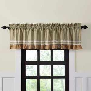 VHC Brands Farmhouse |  Window Treatments | Kendra Stripe Green Valance 19x72
